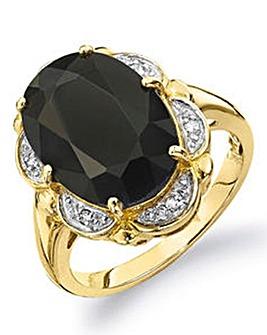 9 Carat Gold Black Sapphire Ring