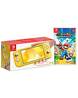 Switch Lite Yellow with Mario Rabbids
