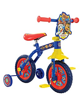 "Paw Patrol 2in1 10"" Training Bike"
