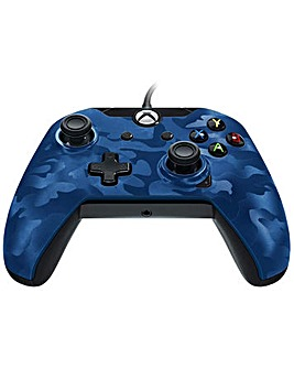 Wired Controller for Xbox One Blue Camo