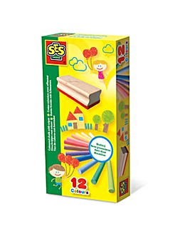 Children's Coloured Chalk with Wiper Set