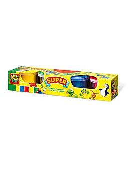 Children's Play Dough Set, 4 Pots Set