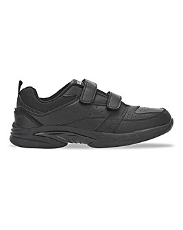 Easy Fasten Leather Trainer