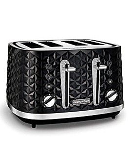 Morphy Richards 248131 Vector 4 Slice Black Toaster
