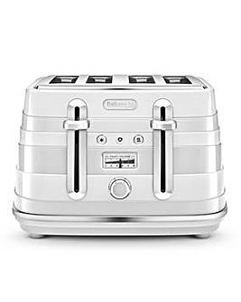 Delonghi Avvolta 4 Slice White Toaster