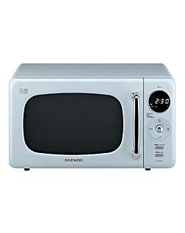 Daewoo 800W 20 Litre Blue Microwave
