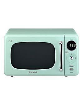 Daewoo 800W 20 Litre Green Microwave