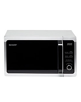 Sharp 800W 20 Litre Black Microwave