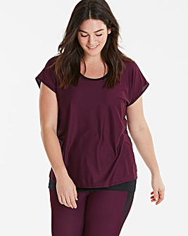 Purple Sports Double Layer Tee