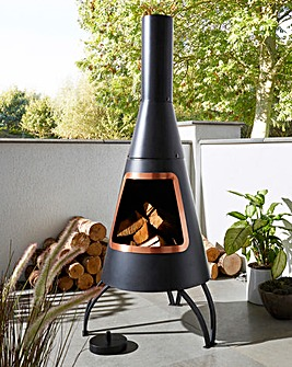 Dakota Steel Chimenea