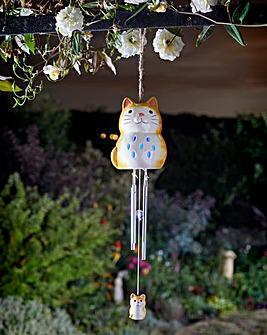 Ceramic Cat Windchime