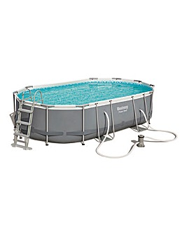 Bestway Power Steel 4.8 x 3m Oval Pool