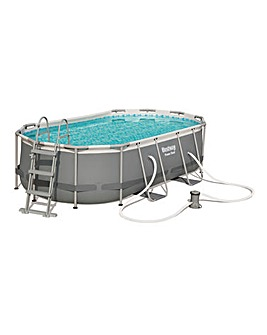 Bestway Power Steel 4.3 x 2.5m Oval Pool