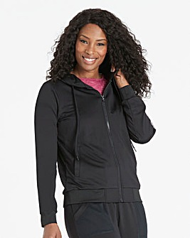 Leisure Mesh Panel Hooded Bomber