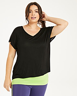 Double Black/Khaki Layer Tee