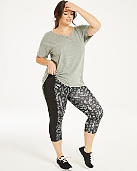 Sports Printed Capri Legging