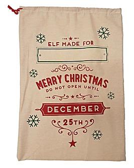 Gift Sack with Name Panel Elf