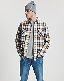 Oatmeal Check Flannel Overshirt