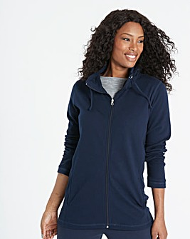 Navy Value Zip Front Jacket