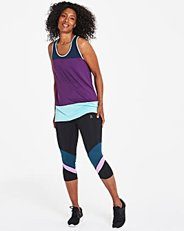 Sports Colour Block Capri Leggings