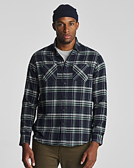Green Long Sleeve Check Flannel Shirt