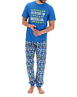 Christmas Sprouts Cuffed Pyjama Set