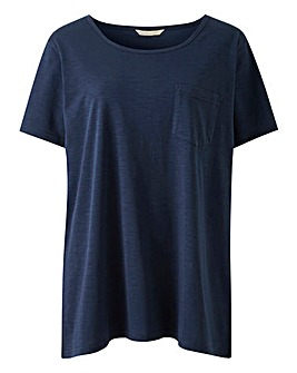 Navy Essential Longline T-Shirt