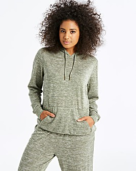 Khaki Slouchy Knitted Hoodie