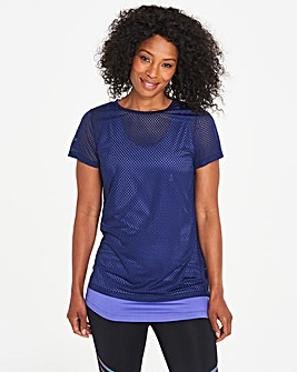 Sports Perforated Double Layer T-Shirt