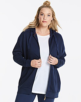SLOUNGE ZIP THROUGH HOODIE