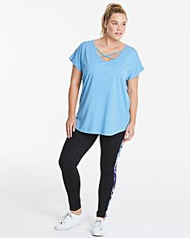 Sky Blue Cross Front T-Shirt