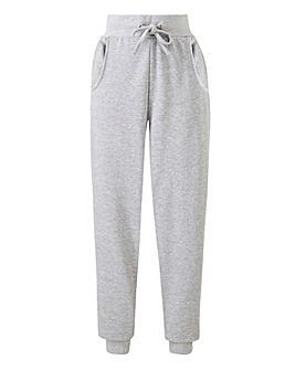 Grey Marl Contrast Panel Jogger
