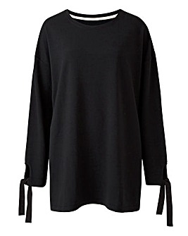Black Ribbon Detail Top