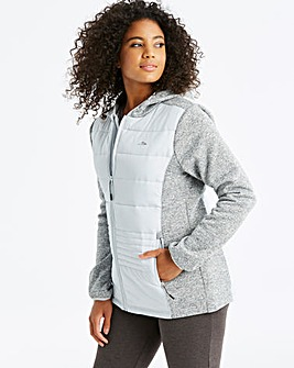 Snowdonia Pale Grey Hybrid Jacket