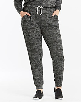 Grey Marl Slouchy Knitted Jogger