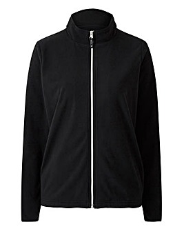 Black Long Sleeve Zip Fleece