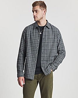 Charcoal Long Sleeve Gingham Check Shirt