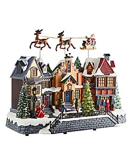 Christmas Musical Village Scene
