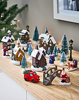 25 Piece Deluxe Christmas Village