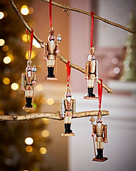 Set of 5 Nutcracker Tree Decorations