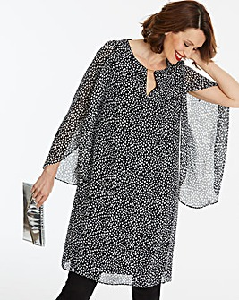 Joanna Hope Print Tulip Sleeve Dress