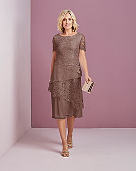 Nightingales Lace Layered Dress