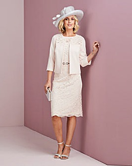 Nightingales Blush Lace Dress and Jacket