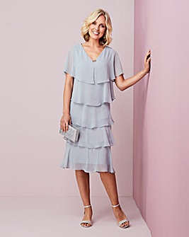 Nightingales Grey Tiered Dress