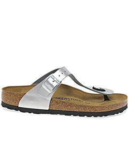 Birkenstock Gizeh Silver Ladies Sandals