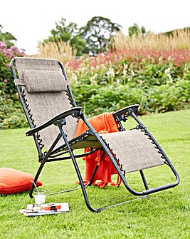 Zero Gravity Reclining Sunlounger Grey