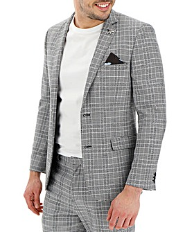 Black Check Jenson Slim Fit Suit Jacket