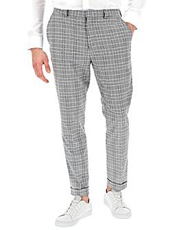 Black Check Jenson Slim Fit Trousers