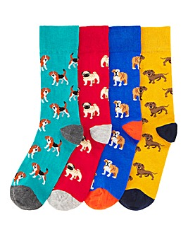 Keep Fresh 4 Pack Dog Socks
