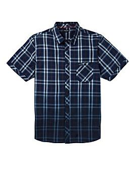 Firetrap Navy Barra Short Sleeve Shirt Long